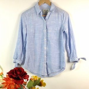 Abercrombie & Fitch button down with tie sleeves